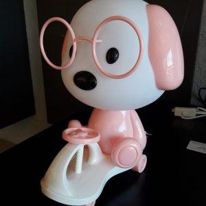 11027 - abajur cachorro rosa
