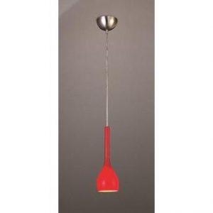 2363 - pendente vidro vermelho mantra