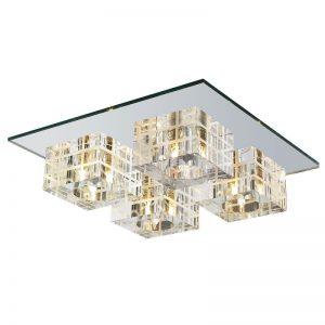 10536 - Itamonte plfon cristal espelho